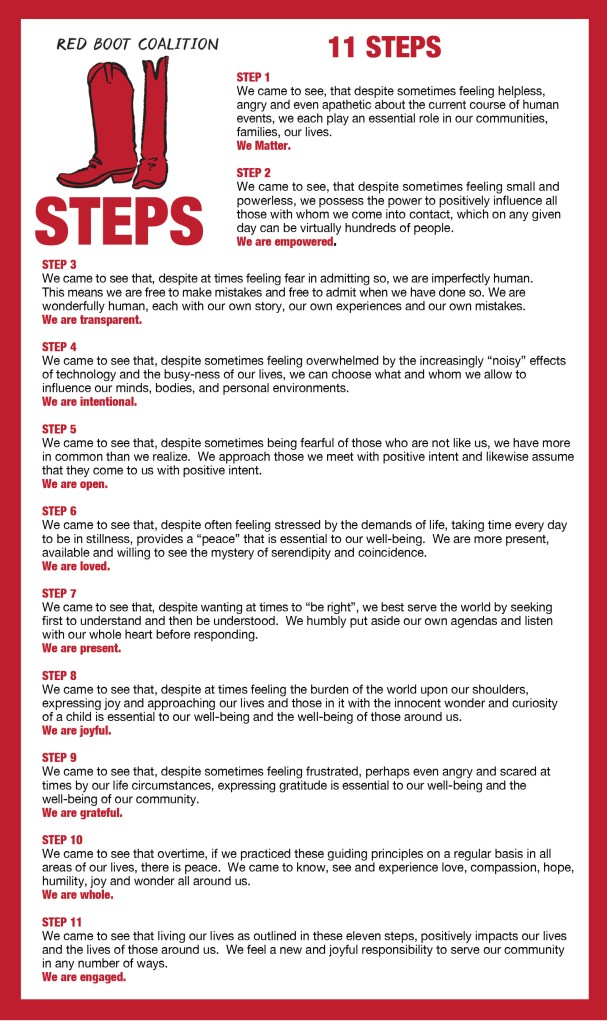 red boot 11 steps